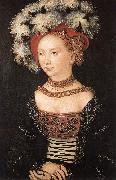 CRANACH, Lucas the Elder Portrait of a Young Woman dfg oil painting picture wholesale