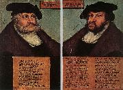 CRANACH, Lucas the Elder Portraits of Johann I and Frederick III the wise, Electors of Saxony dfg oil painting picture wholesale