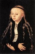CRANACH, Lucas the Elder Portrait of a Young Girl khk oil painting picture wholesale