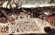 CRANACH, Lucas the Elder The Fountain of Youth dfg oil painting picture wholesale