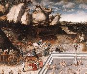 CRANACH, Lucas the Elder The Fountain of Youth (detail) dfg oil painting picture wholesale