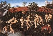 CRANACH, Lucas the Elder The Golden Age  thtre oil painting picture wholesale