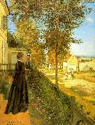 Camille Pissaro Louveciennes : The Road to Versailles oil