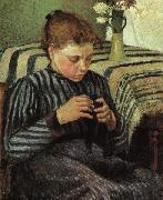 Camille Pissaro Girl Sewing oil