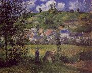 Camille Pissaro Landscape at Chaponval oil painting