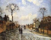 Camille Pissarro The Road to Louveciennes oil