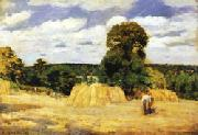 Camille Pissarro The Harvest at Montfoucault oil
