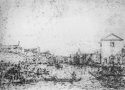 Canaletto Grand Canal: Looking North-East from Santa Croce to San Geremia vf oil painting picture wholesale