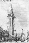 Canaletto The Piazzetta: Looking North, the Campanile under Repair bdr oil painting picture wholesale