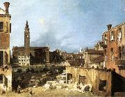 Canaletto The Stonemason s Yard oil
