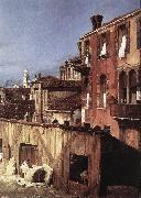 Canaletto The Stonemason s Yard (detail) oil