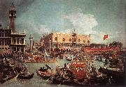 Canaletto The Bucintoro Returning to the Molo on Ascension Day fg oil painting picture wholesale