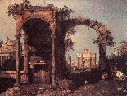 Canaletto Capriccio: Ruins and Classic Buildings ds oil
