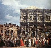 Canaletto The Feast Day of St Roch (detail) f oil