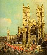 Canaletto Westminster Abbey with a Procession of the Knights of Bath France oil painting reproduction