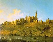 Canaletto Alnwick Castle, Northumberland France oil painting reproduction