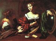 Caravaggio Martha and Mary Magdalene oil