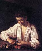 Caravaggio Boy Peeling a Fruit df France oil painting reproduction
