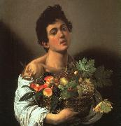 Caravaggio Youth with a Flower Basket oil painting picture wholesale