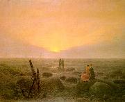 Caspar David Friedrich Moon Rising Over the Sea oil painting picture wholesale