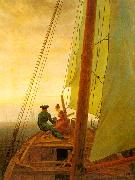 Caspar David Friedrich On Board a Sailing Ship oil painting picture wholesale
