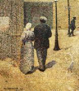 Charles Angrand Couple in the Street oil painting picture wholesale