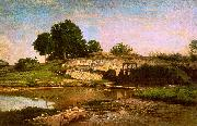 Charles Francois Daubigny The Flood Gate at Optevoz oil painting picture wholesale