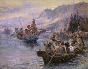 Charles M Russell Lewis and Clark on the Lower Columbia oil painting picture wholesale