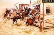 Charles M Russell In Without Knocking oil painting picture wholesale
