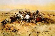 Charles M Russell A Desperate Stand oil painting picture wholesale