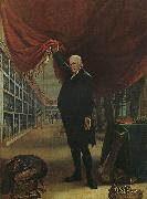 Charles Wilson Peale The Artist in his Museum oil