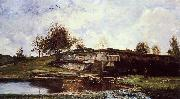 Charles-Francois Daubigny Sluice in the Optevoz Valley oil painting picture wholesale