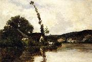 Charles-Francois Daubigny River Landscape oil painting picture wholesale