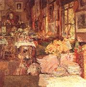 Childe Hassam The Room of Flowers France oil painting reproduction