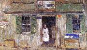 Childe Hassam News Depot at Cos Cob oil painting picture wholesale