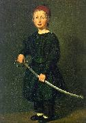 Christian Albrecht Jensen Portrait of a Boy : One of the Artist's Sons France oil painting reproduction