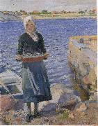 Christian Krohg Solskinn oil painting picture wholesale
