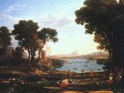 Claude Lorrain Landscape with the Marriage of Isaac and Rebekah oil