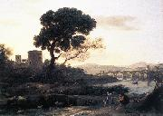 Claude Lorrain Landscape with Shepherds   The Pont Molle fgh oil painting artist