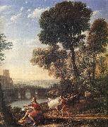 Claude Lorrain Landscape with Apollo Guarding the Herds of Admetus dsf oil painting picture wholesale