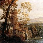 Claude Lorrain Landscape with Dancing Figures (detail) dfg oil painting artist