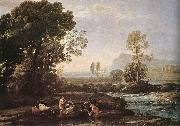 Claude Lorrain Landscape with Rest in Flight to Egypt fg oil painting artist