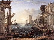 Claude Lorrain Seaport with the Embarkation of the Queen of Sheba df oil painting artist