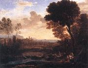 Claude Lorrain Landscape with Paris and Oenone fdg oil painting artist