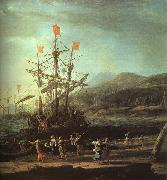 Claude Lorrain The Trojan Women Setting Fire to their Fleet oil painting picture wholesale