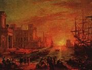 Claude Lorrain Seaport at Sunset oil painting picture wholesale