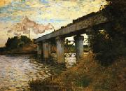 Claude Monet The Railway Bridge at Argenteuil oil painting picture wholesale