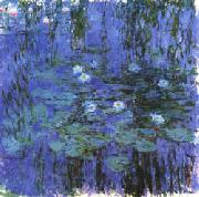 Claude Monet Blue Water Lilies oil painting picture wholesale