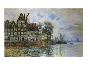 Claude Monet View of Amsterdam oil painting picture wholesale