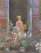 Claude Monet Camille at the Window oil painting picture wholesale